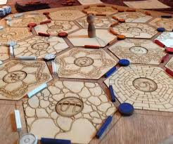 Wooden Sorry Board Game Laser Cut Settlers of Catan Board 100 Steps with Pictures 80