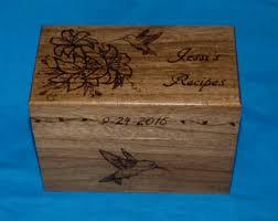 Decorative Recipe Box Decorative Recipe Box Personalized Wood Burned Recipe Card 85