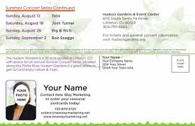 hudson gardens 2018 summer concert series back this postcard design is not available