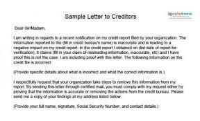 Credit Repair Sample Letters