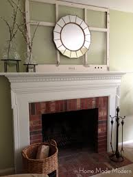 brick fireplace mantel ideas. favored white painted fireplace mantel also brick wall panels as well mirrored mantels decors in rustic living areas designs ideas