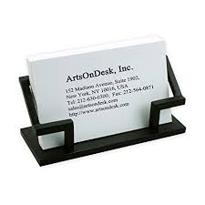 Amazoncom Artsondesk Modern Art Business Card Holder Bk301 Steel