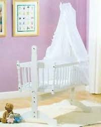 white broderie anglais 3piece swinging crib bedding set