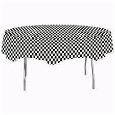 black check octy round plastic tablecloth party at lewis elegant party supplies plastic dinnerware paper plates and napkins