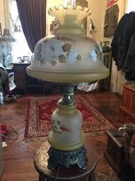 antique quoizel table lamps vintage painted glass lamp