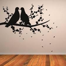 wall art birds and trees