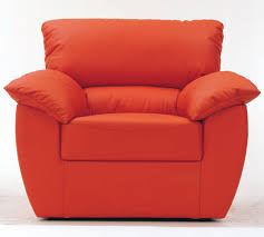 Red single soft sofa