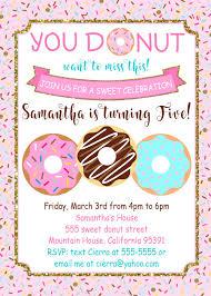B Day Invitation Cards Donut Birthday Invitation Card Donut Birthday Party Invite Printable