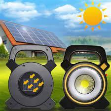 Solarlı GÜNEŞ ENERJILI ŞARJLI LED KAMP EL FENERI ÇALIŞMA LAMBASI