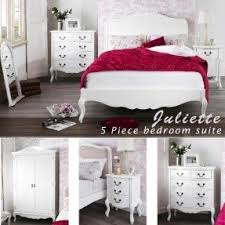shabby chic bedroom furniture set. juliette shabby chic antique white 5pc bedroom furniture set