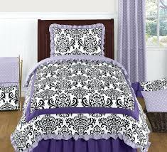 black and white damask comforter lavender purple black and white twin girls bedding set by sweet black and white damask comforter comforter sets