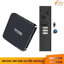 Android TV Box Mecool KM1 bản quyền Google, điều khiển giọng nói Ram 4G -  KM1 Android TV 9