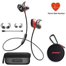 bose earphones wireless. bose soundsport pulse | sport heart rate bluetooth wireless in-ear headphones - red \u0026 earphones