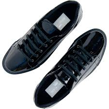 pacino black patent leather low top sneakers thumb