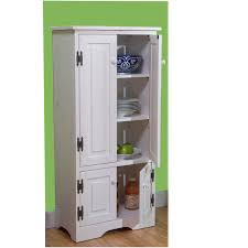 Tall White Kitchen Pantry Cabinet With Decorative All Home