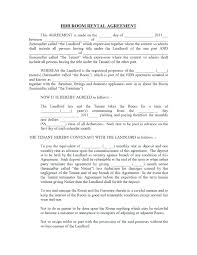 Room Rental Contract Rent To Own Lease Agreement Template Contract 9 Word