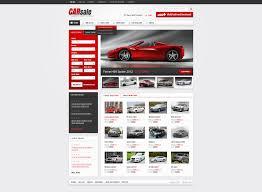 Website Template 38522 Car Sale Rental Custom Website Template Car