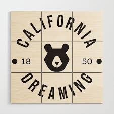 california dreaming minimalist bear