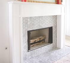 vibrant design fireplace marble tile 19 carrara bianco 3 hexagon mosaic tile fireplace