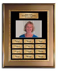 Employee Of The Month Photo Frame Employee Of The Month Frame Award Gold And Gold