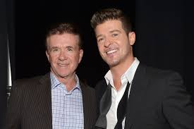 alan thicke robin thicke side by side.  Side Charley GallayWireImage GallayWireImage Robin Thicke Has Honored  His Father Alan  Intended Side By