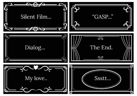 Film Picture Template Silent Film Dialog Template Vector Download Free Vector Art Stock