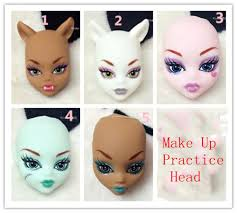 soft plastic practice makeup doll heads for monster high doll bjd doll s practicing makeup monster head without hair
