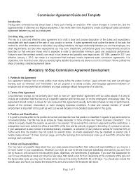 Sales Commissions Template Sales Commission Agreement Template