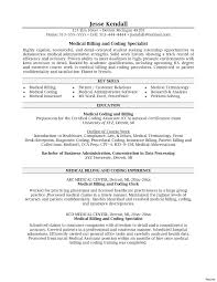 Medical Coding Resume Valid Coding Resume Medical Billing Specialist