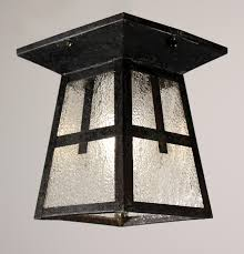 arts and crafts exterior lighting fixtures by wonderful antique arts crafts flush mount light fixture