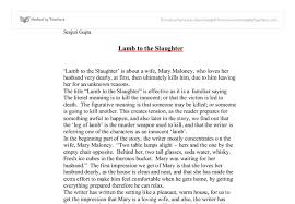 lamb to the slaughter essay gcse english marked by teachers com document image preview
