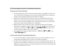 st thomas aquinas and the cosmological argument a level document image preview