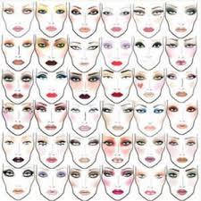 makeup cles on 2000 mac makeup face charts cosmetics manual ebay