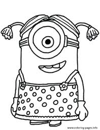 Coloring Pages Of Girl Little Girl The Minion Coloring Pages