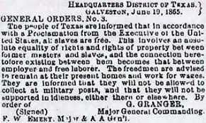 Image result for General Gordon Granger AND JUNETEENTH
