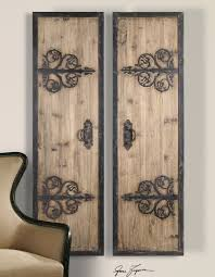 2 xl decorative rustic wood wrought iron wall art panels for new property iron decorative wall art remodel on country style metal wall art with 2 xl decorative rustic wood wrought iron wall art panels for new