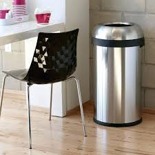 kitchen trash can ideas garbage with cans and brown wooden floor bin