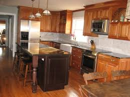 Kitchen Cherry Cabinets Natural Cherry Cabinets What Floor