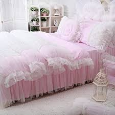 Amazon Sisbay Fancy Girls Bedding Set Pink Luxury Princess