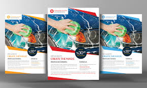 car wash flyer template flyer templates on creative market