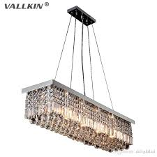 rectangular crystal chandelier dining room length 100cm led cyrstal pendant light ceiling lamp chandiliers lighting 100 original modern ceiling lights