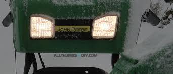 troubleshooting a broken headlight on john deere 1330se snow blower