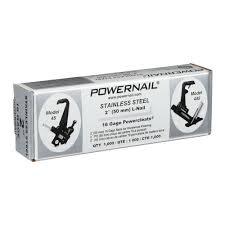 powernail 2 in x 16 gauge powercleats stainless steel hardwood flooring nails 1000