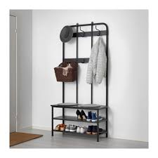 Shoe And Coat Rack Enchanting PINNIG Coat Rack With Shoe Storage Bench IKEA