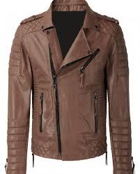 Kay Michael Brown Biker Jacket   Top Celebs Jackets & Kay Michael Brown Biker Jacket Adamdwight.com