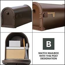 Jumbo Metal Post Mount Mailbox Steel Mail Indicator Flag Front Door