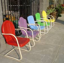 antique metal lawn chairs i love em all