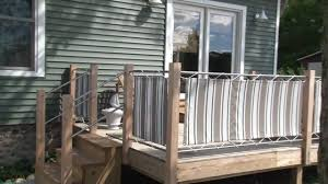 Privacy deck rail Patio Railing Legalese Fabric Panels Installed On Deck Rails Youtube