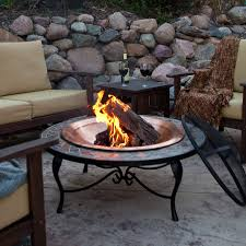 ceramic chiminea outdoor fireplace awesome mosaic 40 inch surround fire pit with copper fire bowl