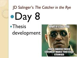 jd salinger s the catcher in the rye ppt jd salinger s the catcher in the rye